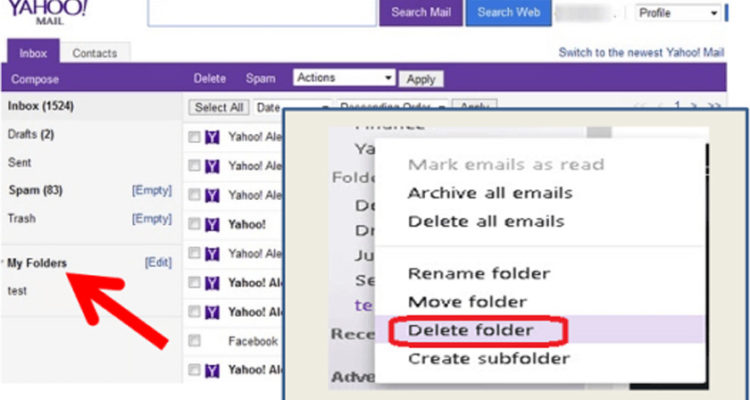 How to Delete Folders in Yahoo Mail