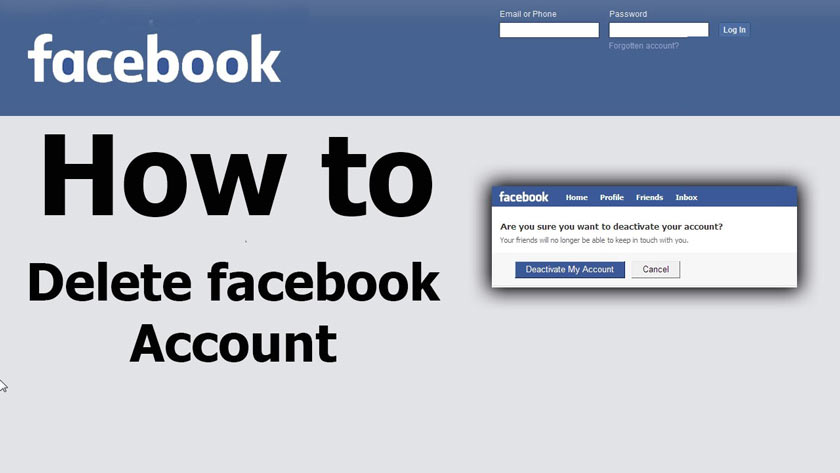 How to Permanently Disable or Delete your Facebook Account