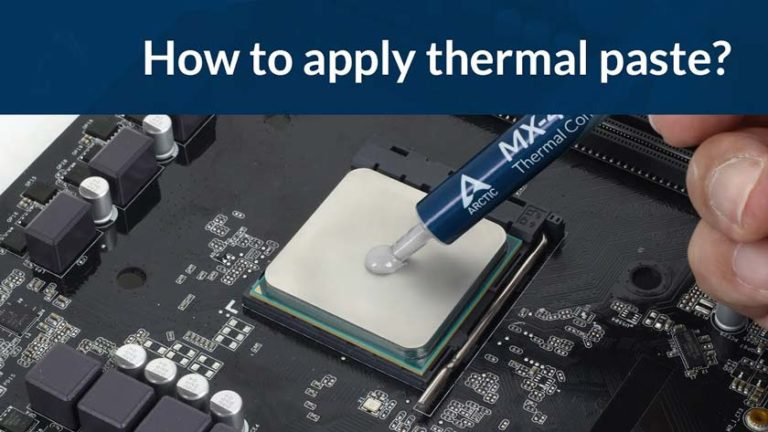 How to Apply Thermal Paste on the Processor