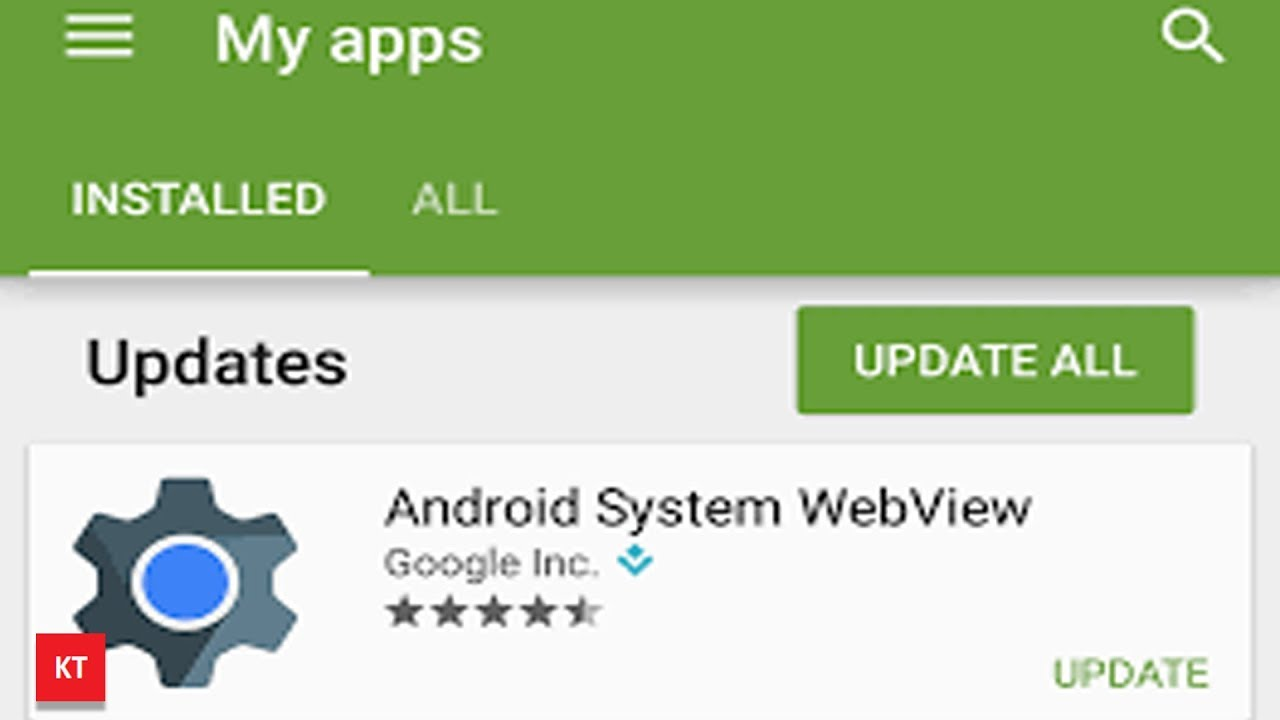 What is Android System Webview.