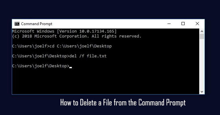 How to Delete a File from the Command Prompt