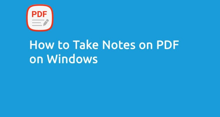 How to Take Notes on PDF