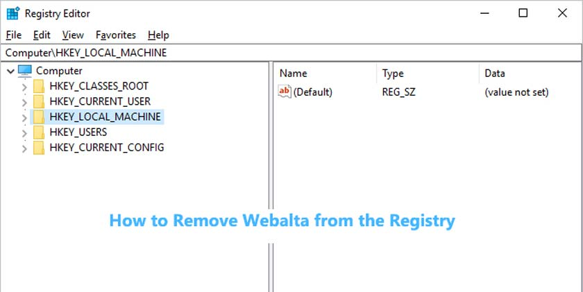 How to Remove Webalta from the Registry