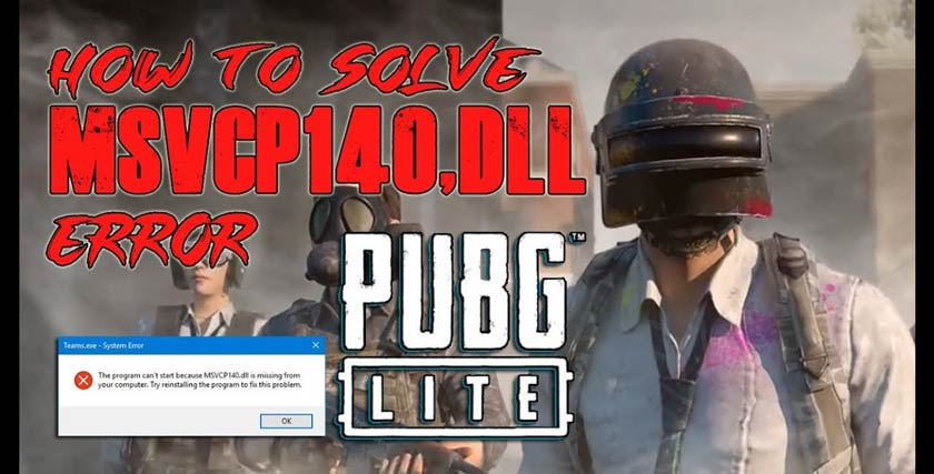 PUBG Lite MSVCP140.dll Not Found Error Solution