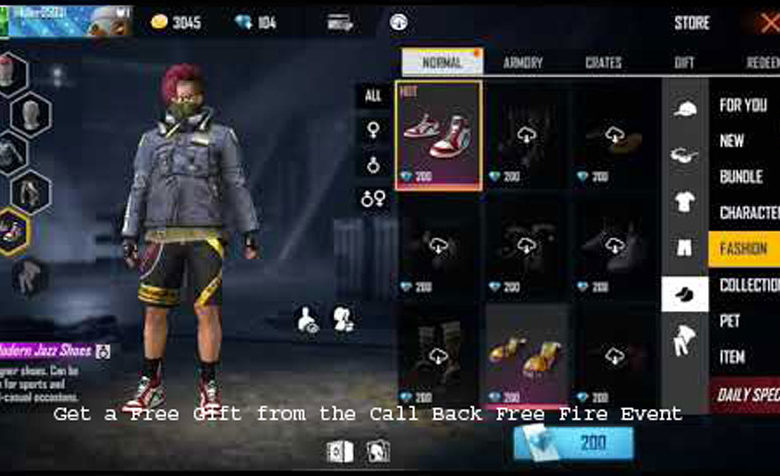 How to Get a Free Gift from the Call Back Free Fire Event