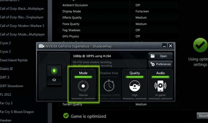 How to Record Games Using Nvidia ShadowPlay