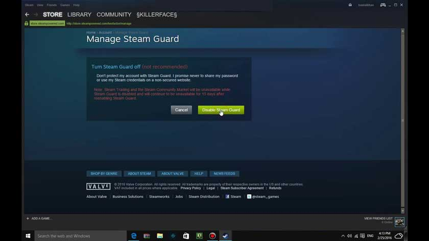 How to Disable Steam Guard on Mobile