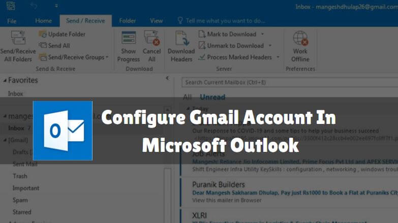 How Can We Use Gmail in Microsoft Outlook