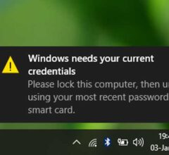 Fix Windows 10 Issue 'Windows Needs Your Current Credentials'