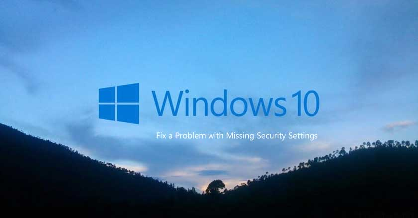 Fix a Problem with Missing Security Settings
