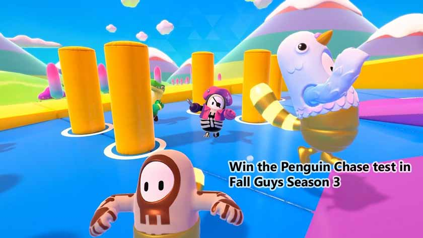 Win the Penguin Chase test in Fall Guys Season 3
