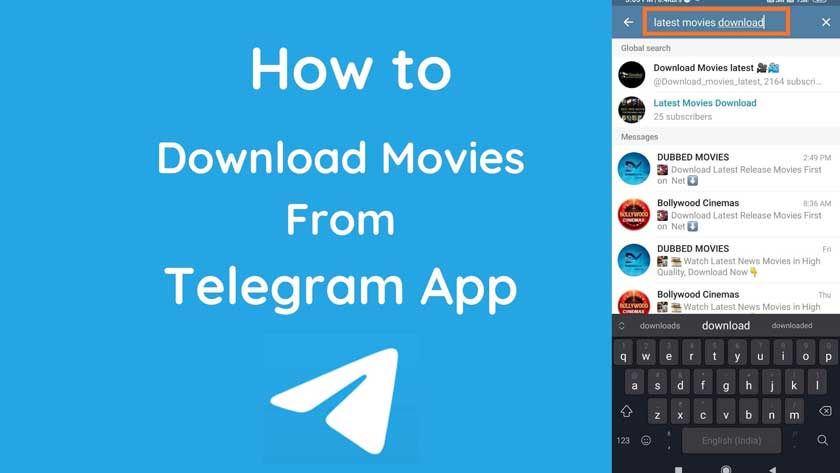 How to Search And Download Movies on Telegram Android