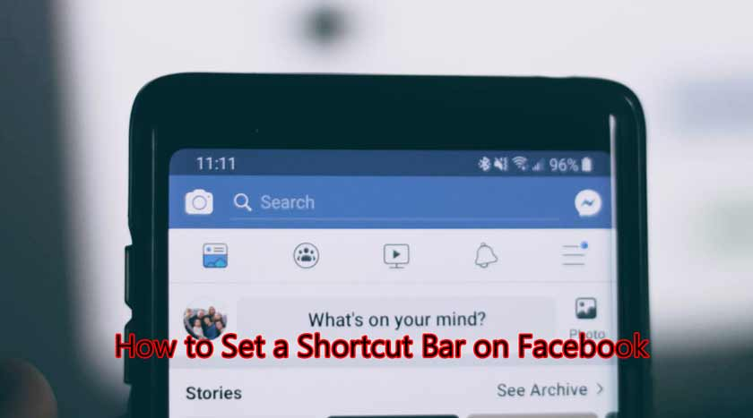 How to Set a Shortcut Bar on Facebook
