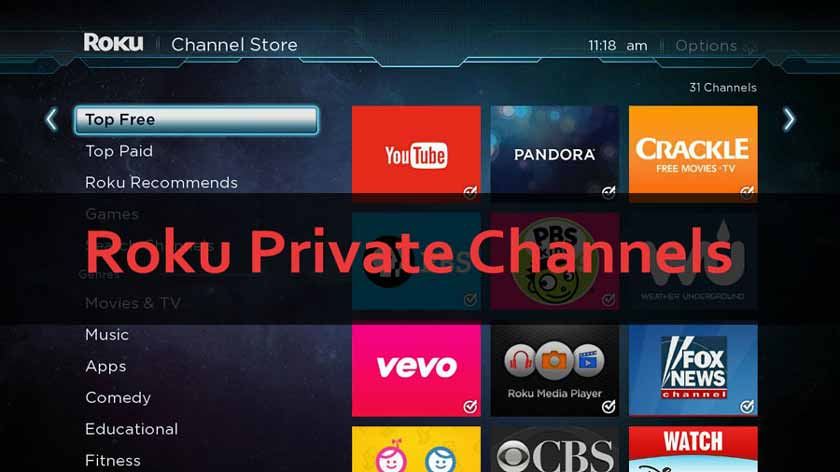 The Best Private And Hidden Roku Channels