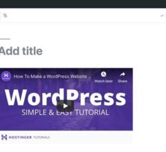 How to Insert Videos in WordPress Posts