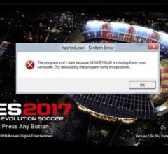 How to Fix PES 2017 Error msvcr100.dll
