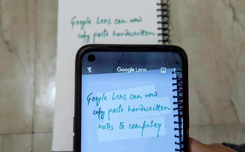Copying and Pasting Handwritten Notes With Google Lens