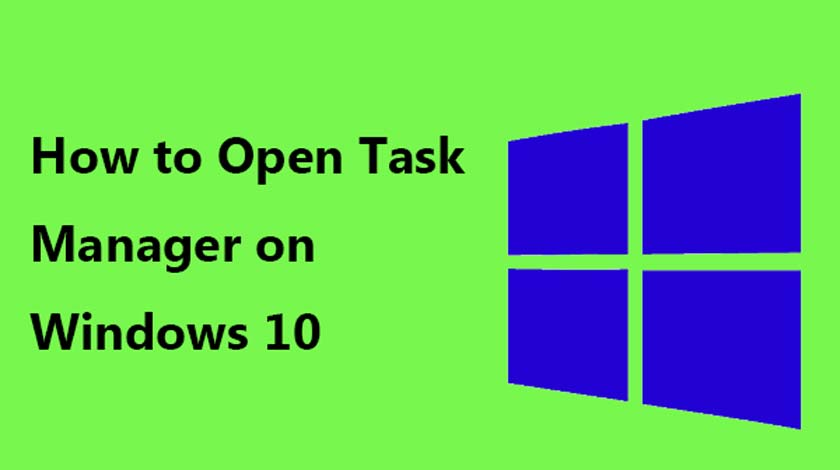 Open the Task Manager in Windows