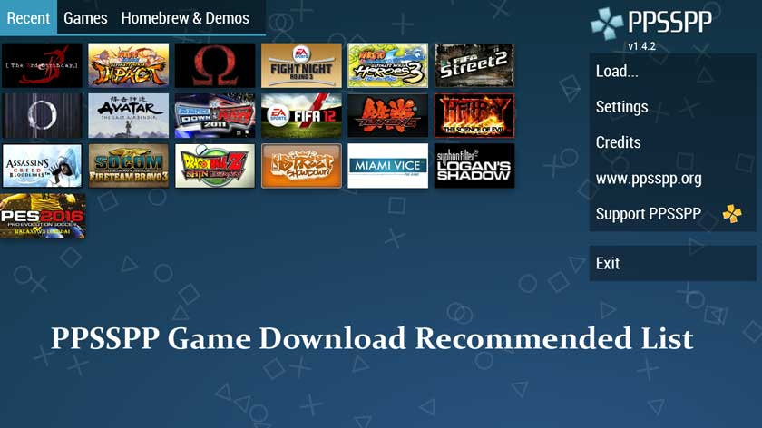 PPSSPP Game Download Recommended List