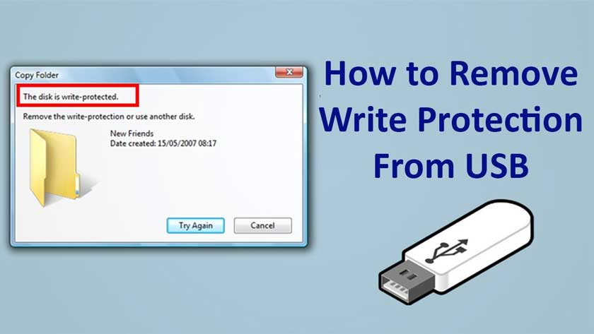 Remove Write Protection From a USB Flash Drive